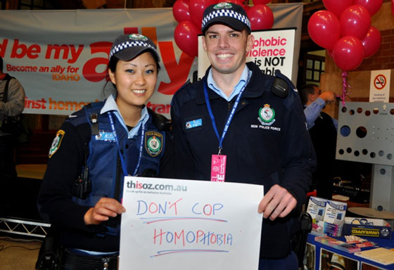Don't Cop Homophobia -- even by police officers.